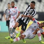 Criatividade precária e desorganização no fim marcam novo tropeço do Botafogo