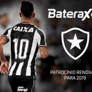 Botafogo renova patrocínio com a Baterax até o fim da temporada 2019