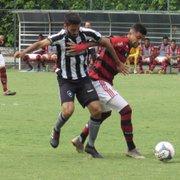 Base: Botafogo cede empate no fim para o Flamengo, mas segue líder na Taça GB Sub-20