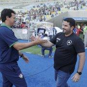 Com Fernando Diniz, Botafogo dá sinais de que busca um estilo de posse de bola e 'jogo bonito'
