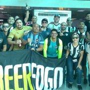Torcida do Botafogo invade Belo Horizonte confiante na virada contra o Atlético-MG