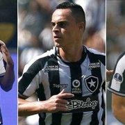 Sem Diego Souza contra o São Paulo, Botafogo tem como opções de centroavante Vinicius Tanque, Victor Rangel e Igor Cássio