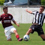 Base: no 1º duelo final da Taça Rio Sub-17, Botafogo empata em 0 a 0 com o Flamengo na Gávea