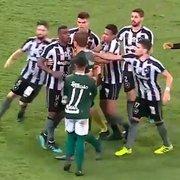 VÍDEO: outrora especulado no Botafogo, Rafael Moura tenta intimidar Fernando, mas toma dura de Marcelo