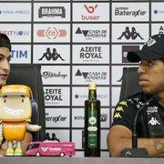 Aliviados com permanência do Botafogo na elite, Marcinho e Yuri miram vaga na Sul-Americana: 'Seria presente'