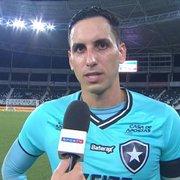 Gatito reconhece queda de produção do Botafogo no segundo tempo, mas valoriza vitória sobre o Paraná