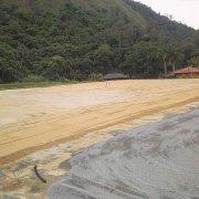 Empreiteira divulga imagens das obras do campo 1 do novo Centro de Treinamento do Botafogo