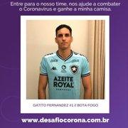 Gatito adere à campanha contra o coronavírus e vai sortear camisa do Botafogo autografada