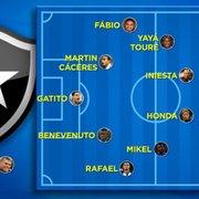 Alô, Botafogo S/A! TV faz esboço do time com todos os craques especulados pelo clube no 1º semestre de 2020