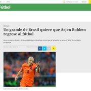 Imprensa do Brasil e do exterior: Robben deixa visível a diferença de tratamento dado ao Botafogo