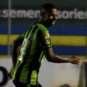 Emprestado pelo Botafogo, Rickson faz bonito gol em vitória do América-MG pelo Estadual