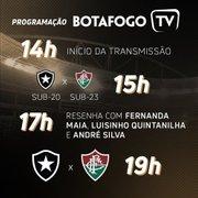 Botafogo TV abre transmissão às 14h para amistosos e terá participação de ex-jogadores
