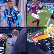 Emprestado pelo Botafogo, Luiz Fernando estreia pelo Grêmio, joga 37′, leva caneta e amarelo e é campeão gaúcho com Diego Souza