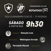 Base: Botafogo enfrenta o Vasco neste sábado pelo Carioca Sub-20 com transmissão da Botafogo TV
