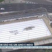 Fechada há um ano e meio, piscina do Botafogo no Mourisco sofre com abandono; equipe de polo aquático é desfeita