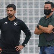 Túlio Lustosa diz que queria manter Emiliano Díaz no Botafogo: 'Minha ideia não foi aceita'