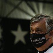 Durcesio planeja 'entregar Botafogo melhor' e diz: 'Acredito que não vai cair'
