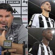 Barroca diz que promoverá disputa interna no Botafogo e cita jogadores: 'Pedro Raul precisa ter receio do Babi'