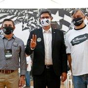 Eleição do Botafogo tem foto de candidatos juntos e clima pacífico; FogãoNET marca presença