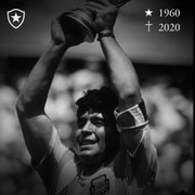 Botafogo e Ramón Díaz lamentam falecimento de Maradona: 'Dia triste'