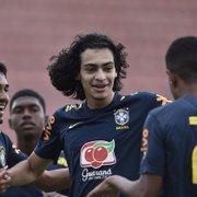 Com gol de Matheus Nascimento, do Botafogo, Seleção Brasileira sub-17 goleia Guarani por 5 a 1