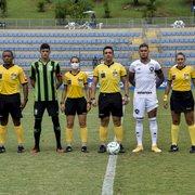 Base: Botafogo sofre virada com um a mais e perde para o América-MG no Brasileiro Sub-20