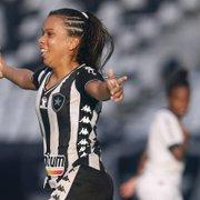 Primeira mulher a marcar pelo Botafogo no Nilton Santos, Vivian vibra: 'Não tenho palavras para descrever'