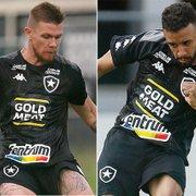 Botafogo terá Rafael Forster e Caio Alexandre pela esquerda contra o Coritiba; Gustavo Cascardo foi testado