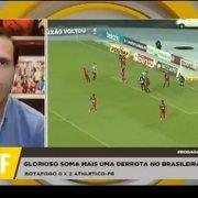 Comentarista: 'Não vejo nenhum time pior que o Botafogo no Brasileiro'