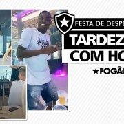 VÍDEO: Honda se despede do Botafogo com churrasco, show de pagode e presença de jogadores do elenco
