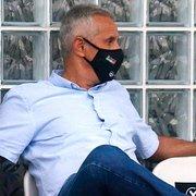 Em carta, vice reclama de 'críticas políticas' no Botafogo: 'Não percam a esperança, percalços serão superados'