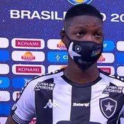 Matheus Babi celebra vitória e 10º gol pelo Botafogo: 'Chamusca estava olhando, demos a vida'