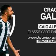Caio Alexandre supera Babi e Kanu e representará o Botafogo no prêmio Craque da Galera do Brasileirão