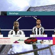 Voltou? Em gafe, transmissão coloca Kelvin na lateral direita do Botafogo
