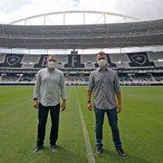 Marcelo Chamusca chega ao Botafogo, conhece Estádio Nilton Santos e será apresentado nesta segunda
