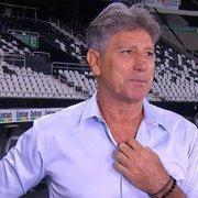 Renato Gaúcho se diz triste com rebaixamento do Botafogo, mas foca nos objetivos do Grêmio: 'Cada um com seus problemas'