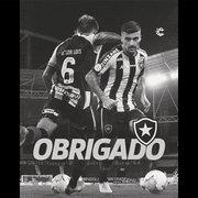 Victor Luis se despede do Botafogo: 'Se dependesse de mim, não teria deixado essa tragédia acontecer'