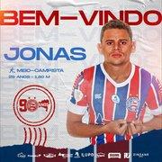 Outrora especulado no Botafogo, Jonas é anunciado como reforço do Bahia