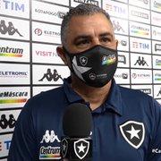 Chamusca, do Botafogo, aprova limite para troca de técnicos no Brasileiro: 'CBF deveria estender para a Série B'