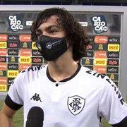 Aniversariante do dia, Matheus Nascimento quase marca em empate do Botafogo: 'Mérito do goleiro'