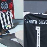 Renata Silveira ganha camisa e carta do Botafogo em homenagem por narração histórica no Grupo Globo