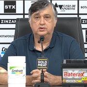 Presidente do Botafogo refuta movimento por virada de mesa: 'É no campo que vamos retornar à elite'