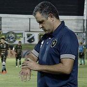 Chamusca explica insistência em Rafael Carioca e Luiz Otávio no Botafogo e afirma: 'Não é justo individualizar'
