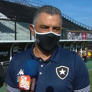 Evolução do Botafogo na vitória sobre o Vasco dá tranquilidade a Chamusca