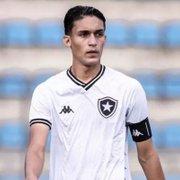 Capitão do Botafogo sub-17, João Lucas revela admiração por Igor Rabello: 'Sou fã do futebol dele'