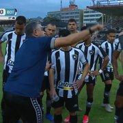 Chamusca minimiza pênaltis e lamenta erro no primeiro jogo: 'Existe uma má vontade absurda dos árbitros contra o Botafogo'