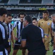 Técnico admite necessidade de melhora de Marcinho no Botafogo e desabafa: 'Não tem isso de jogador do Chamusca'