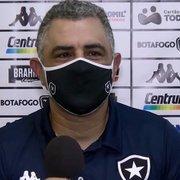 Chamusca elogia atuação 'muito consistente' do Botafogo e mostra otimismo para a Série B: 'Podemos evoluir'