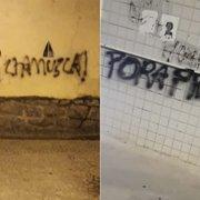Muros de General Severiano e do Nilton Santos são pichados pedindo saídas de Chamusca e Freeland do Botafogo
