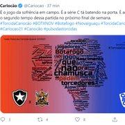 Gafe ou deboche? Perfil oficial do Carioca diz que Série C 'bate na porta' do Botafogo: 'Sofrência em campo'